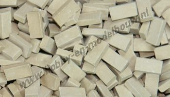 Donkerbeige steen 1:87, 3000 stuks