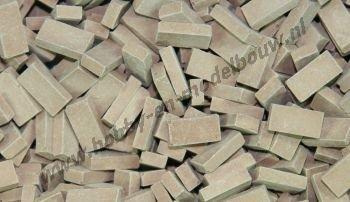 Donker terracotta steen 1:87, 3000 stuks