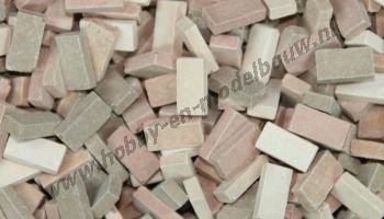 Gemengd terracotta steen 1:87, 3000 stuks