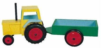 Moderne tractor met aanhanger