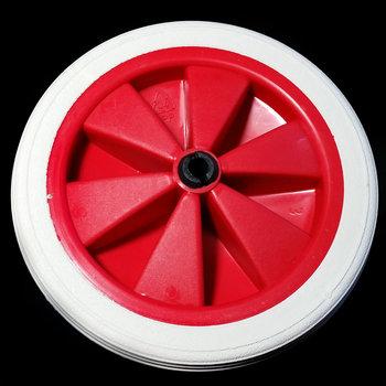 Rood/wit wiel 140 mm met profielband