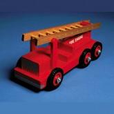 Brandweer- en ladderwagen