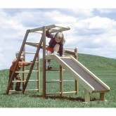 Mini klimrek met glijbaan