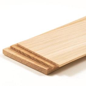 Houten plankjes eikenhout, afm.: 76 x 457 mm
