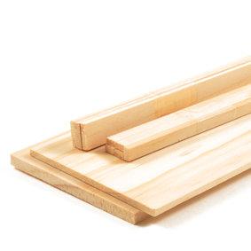 Houten plankjes sparrenhout