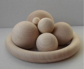 Houten bollen 15 mm, zonder boring