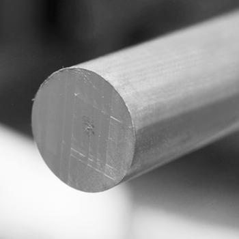 Aluminium staf rond 30,5 cm lang, Engelse maatvoering