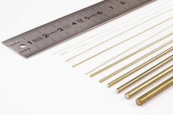 Messing draad/staf, 30,5 cm lang, Engelse maatvoering