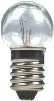 Kogellampje E10, 19V/100 mA.