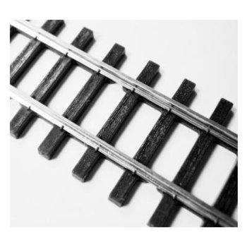 Rail met nikkelzilver railstaven (code 70) en prachtig gedetailleerde houten biels SL1500