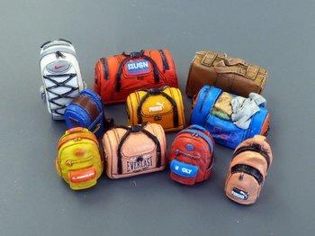 Set van moderne tassen