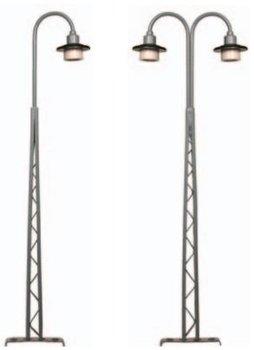 Vakwerkmastlamp met rand 135 mm