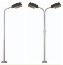Lichtmast met kap breed 90 of 110 mm lang