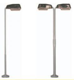 Lichtmast met kap haaks 100 mm