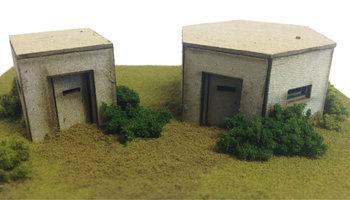 Set van 2 bunkers WWII, type 22 & 26