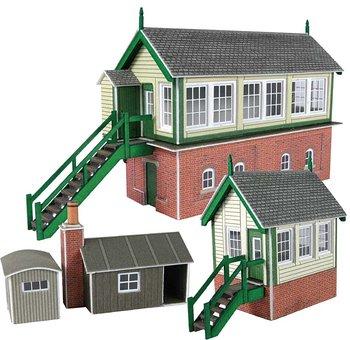 Complete set met 2 seinhuizen e.d.