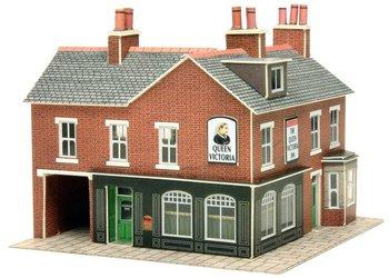 Hoekwinkel en pub in rode steen