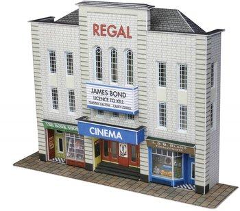 Bioscoop en winkels in half reliëf