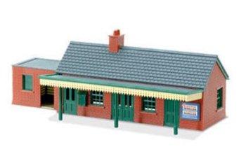 Station met rode baksteen