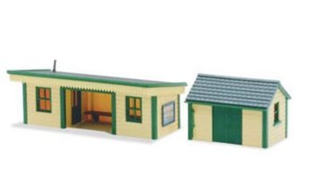 Perronwachtershuisje met barak