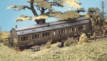Grote wagon met vaste standplaats