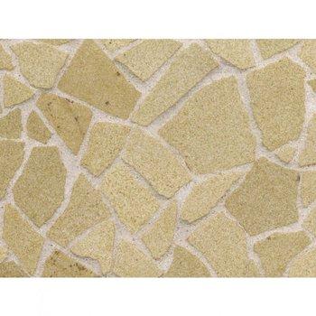 161 cm2 fantasiebestrating, kleur Yellow Sandstone, schaal 1op19
