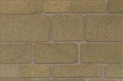 Coursed stones, geel/zandkleurig, oppervlakte ca. 64 cm2, schaal 1op19