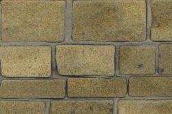 Rough Faced Stone, geel zandsteen, 64 cm2, schaal 1op19