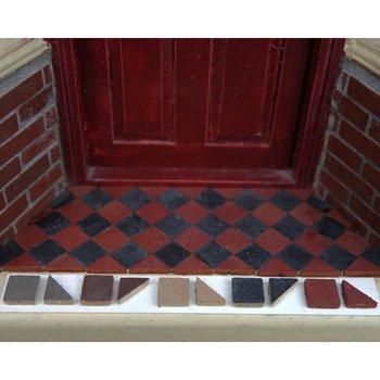Driehoekige Victoriaanse tegels 8.5*8.5*2 mm