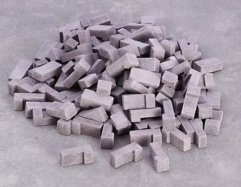 Grijze hoekbaksteentjes gemengd