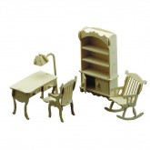 Bouwpakketje van studeerkamer meubels (4 delig)