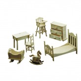 Bouwpakketje van kinderkamer meubels (7 delig)