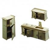 Bouwpakketje van keuken meubels (3 delig)