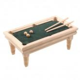 Blank houten biljarttafel, compleet
