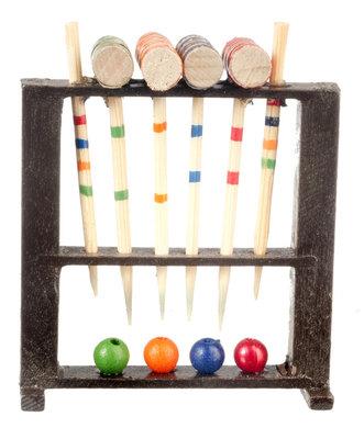 Houten cricket set