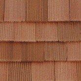 Cederhouten dakpannen, rechthoekig, schaal 1op24