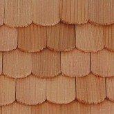Cederhouten dakpannen, visschub, schaal 1op24