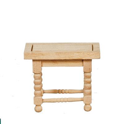 Bijzettafeltje van onbehandeld hout