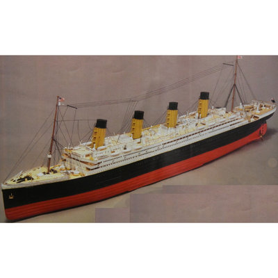 Mantua - RMS Titanic 1:-200 - Houten bouwmodel, inclusief radio control