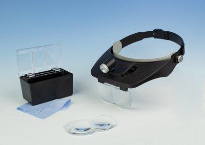 Vergrotingsbril met dubbele plaat vergroting