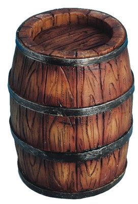 Regenton/wijnvat met duigen, gesloten, 7 cm hoog