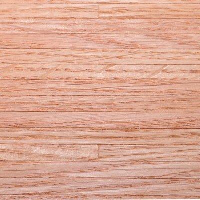 Rood eiken houten fineer vloer, schaal 1:12