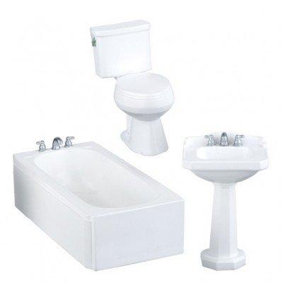 Witte moderne badkamerset, 3 delig