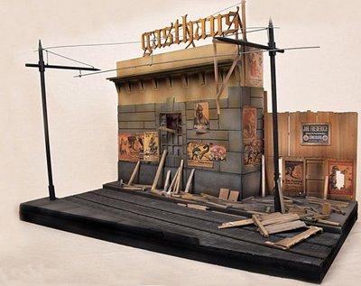 Diorama op schaal 1:22,5 voor de Berlin tram