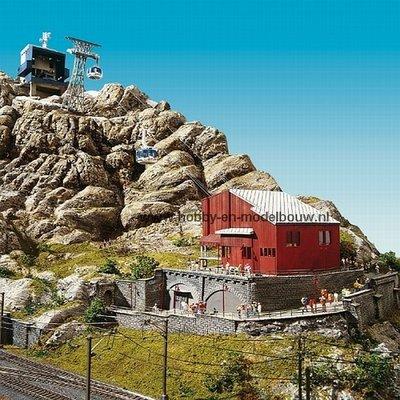 Titlis kabelbaan voor Spoor HO 1:87 incl. gebouwen