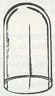 Koepelvitrine 80*170 mm