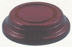 Bijpassende bodemplaat voor koepelvitrine 65 mm