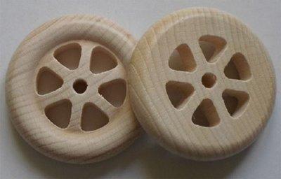 Beukenhouten spaakwielen 70 mm