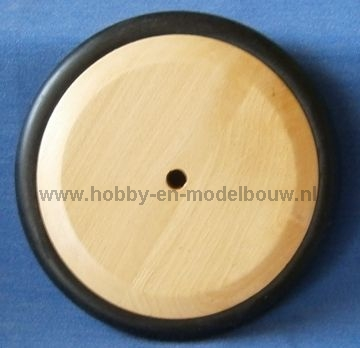 Massief blank houten wiel 152 mm