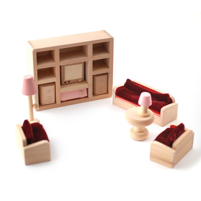 Woonkamer set met Barbie roze details